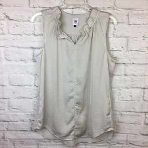 CAbi Last Dance Blouse Small Style #3441 Silver